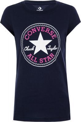 Футболка для девочек Converse Timels Chuck Patch, размер 152Футболки и майки<br>Комфортная футболка от converse для активных малышей. Натуральные материалы натуральный хлопок обеспечивает комфорт и воздухообмен.