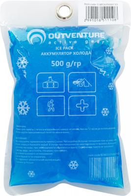Аккумулятор холода OutventureМягкий аккумулятор холода весом 500 гр.<br>Материалы: 87 % вода, 10 % пластик, 3 % суперабсорбент; Размеры (дл х шир х выс), см: 18 х 12 х 3; Вес, кг: 0,5; Состав: 87% вода, 10% пластик, 3% суперабсорбент; Вид спорта: Кемпинг, Походы; Производитель: Outventure; Артикул производителя: EOUOU00703; Срок гарантии: 1 год; Страна производства: Россия; Размер RU: Без размера;
