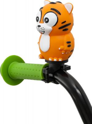Звонок SternДетский сигнал для юного велосипедиста особенности модели простое крепление на руль быстрая установка.<br>Вид спорта: Велоспорт; Материалы: Поливинилхлорид, пластик; Производитель: Stern; Артикул производителя: HORN-TIG; Страна производства: Вьетнам; Размер RU: Без размера;