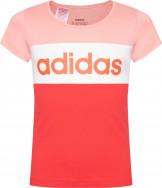 Футболка для девочек Adidas Linear Logo Colorblock
