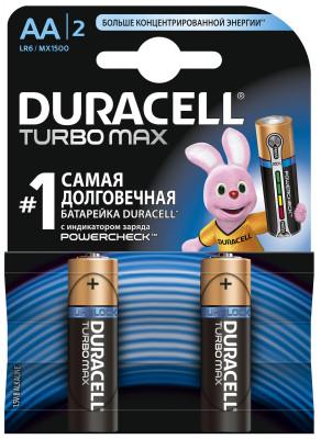 Батарейки щелочные Duracell Turbo AA/LR06, 2 шт.