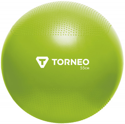 Мяч гимнастический Torneo, 55 смФитболы<br>Гимнастический мяч предназначен для упражнений сидя, упражнений пресса, спины и просто для игры. Диаметр 55 см.