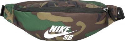 Сумка на пояс Nike HeritageСумки<br>Поясная сумка с камуфляжным принтом nike sb heritage, выполненная из прочного полиэстера плотностью 600 ден.