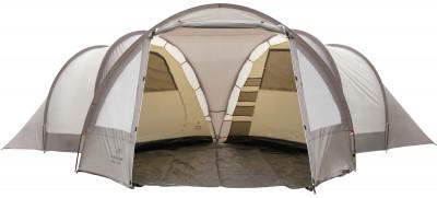Палатка 6-местная Outventure FAMILY DOME 6Превосходная кемпинговая палатка outventure family dome 6 обеспечивает максимальный комфорт во время отдыха на природе.<br>Назначение: Кемпинговые; Количество мест: 6; Наличие внутренней палатки: Есть; Тип каркаса: Внешний; Геометрия: Нестандартная; Вес, кг: 17,2; Размер в собранном виде (д х ш х в): 735 x 650 x 195 см; Размер в сложенном виде (дл. х шир. х выс), см: 71 x 35 x 35 см; Размер тамбура (д х ш х в): 380 x 320/180 x 195 см; Количество комнат: 2; Количество входов: 1; Вентиляционные окна: Есть; Количество вентиляционных окон: 2; Окна: Есть; Количество окон: 4; Диаметр дуг: 9,5 мм, 11 мм; Внешний тент: Есть; Усиленные углы: Есть; Количество оттяжек: 8; Навес: Есть; Крепление для фонаря: Есть; Водонепроницаемость тента: 2000 мм в.ст.; Водонепроницаемость дна: 10 000 мм в.ст.; Проклеенные швы: Есть; Противомоскитная сетка: Есть; Ветрозащитная юбка: Есть; Материал тента: Полиэстер; Материал внутренней палатки: Полиэстер; Материал дна: Армированный полиэтилен; Материал каркаса: Фибергласс; Материал колышков: Сталь; Вид спорта: Кемпинг; Производитель: Outventure; Артикул производителя: KE105T1; Срок гарантии: 2 года; Страна производства: Бангладеш; Размер RU: Без размера;