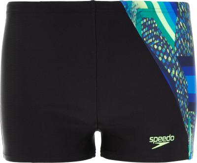 Плавки-шорты для мальчиков Speedo Digital Pnl, размер 128Плавки, шорты плавательные<br>Детские спортивные плавки-шорты - прекрасный вариант для тренировок в бассейне. Защита от хлора ткань endurance10 не подвержена разрушительному воздействию хлора.