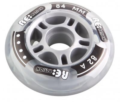 Набор колес для роликов REACTION 84 мм, 82А, 4 штНабор колес reaction 84 мм 82а - отличные скоростные характеристики и износостойкость.<br>Пол: Мужской; Возраст: Взрослые; Вид спорта: Роликовые коньки; Материалы: Полиуретан, пластик; Диаметр: 84 мм; Вес, кг: 0,4; Производитель: REACTION; Артикул производителя: RW84\82; Срок гарантии: 6 месяцев; Страна производства: Китай; Размер RU: Без размера;