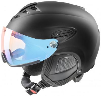 Шлем Uvex 300 Visor VarioШлем с визором из поликарбоната от uvex - отличный выбор для катания на горных лыжах и сноуборде.<br>Пол: Мужской; Возраст: Взрослые; Вид спорта: Горные лыжи; Конструкция: Hard shell; Вентиляция: Регулируемая; Сертификация: EN 1077 B; Регулировка размера: Есть; Тип регулировки размера: Поворотное кольцо; Материал внешней раковины: Пластик; Материал внутренней раковины: Пенополистирол; Материал подкладки: Полиэстер; Технологии: IAS, Natural Sound; Производитель: Uvex; Артикул производителя: S5662032206; Срок гарантии: 2 года; Страна производства: Германия; Размер RU: 57-60;