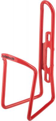 Флягодержатель CyclotechФлягодержатель для велосипеда. Особенности модели: материал: алюминий; надежная фиксация фляги; крепится на раму велосипеда.<br>Материалы: Алюминий; Вид спорта: Велоспорт; Производитель: Cyclotech; Артикул производителя: CBH-1R.; Страна производства: Китай; Размер RU: Без размера;