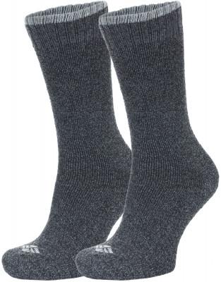 Носки Columbia, 2 парыВысокие носки отлично подойдут для активного времяпрепровождения на природе в холодное время года.<br>Пол: Мужской; Возраст: Взрослые; Вид спорта: Путешествие; Плоские швы: Да; Материалы: 82 % полиэстер, 15 % хлопок, 2 % эластан, 1 % вискоза; Производитель: Columbia Delta; Артикул производителя: RCS090W_GRYM; Страна производства: Китай; Размер RU: 39-42;