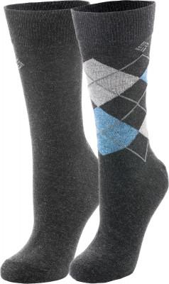 Носки мужские Columbia, 2 парыМужские носки из натуральных материалов с вложением эластичных нитей.<br>Пол: Мужской; Возраст: Взрослые; Вид спорта: Путешествие; Плоские швы: Да; Светоотражающие элементы: Нет; Дополнительная вентиляция: Нет; Компрессионный эффект: Нет; Материалы: 67 % хлопок, 30 % полиэстер, 3 % эластан; Производитель: Columbia Delta; Артикул производителя: RCS002GRL; Страна производства: Китай; Размер RU: 43-46;