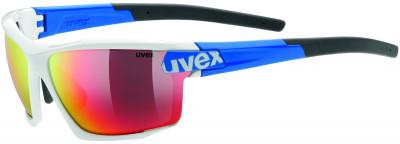 Солнцезащитные очки UvexСпортивные очки uvex со сменными линзами - отличный выбор для занятий бегом или велосипедным спортом в солнечные дни.<br>Цвет линз: Красный зеркальный/оранжевый/прозрачный; Назначение: Бег,велоспорт; Пол: Мужской; Возраст: Взрослые; Вид спорта: Бег, Велоспорт; Ультрафиолетовый фильтр: Да; Зеркальное напыление: Да; Материал линз: Поликарбонат; Оправа: Пластик; Технологии: 100% UVA- UVB- UVC-PROTECTION, LITEMIRROR; Производитель: Uvex; Артикул производителя: S5308908416; Срок гарантии: 1 месяц; Страна производства: Тайвань; Размер RU: Без размера;