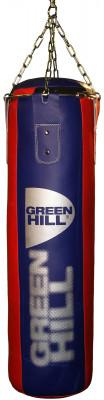 Мешок набивной Green Hill, 35 кгНабивной мешок с подвесной системой. Верх сделан из синтетической кожи. Вес: 35 кг (вес может отличаться).<br>Вес мешка: 35 кг; Высота мешка: 100 см; Диаметр мешка: 30 см; Материал верха: Искусственная кожа; Материал наполнителя: Резиновая крошка, текстиль; Подвесная система: В комплекте; Тип подвесной системы: Цепь; Вид спорта: Бокс, Карате, ММА, Самбо, Тхэквондо; Производитель: Green Hill; Артикул производителя: PBR 100*30; Срок гарантии: 1 год; Страна производства: Пакистан; Размер RU: Без размера;