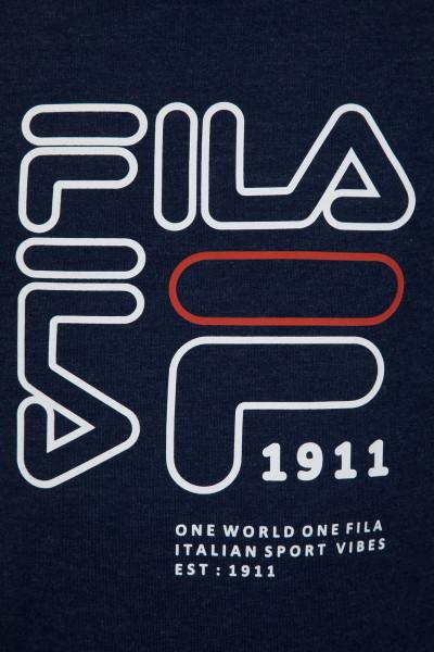 e1b3de94d96e Футболка женская Fila темно-синий цвет - купить за 399 руб. в  интернет-магазине Спортмастер
