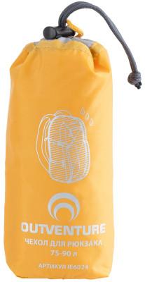 Накидка на рюкзак Outventure, 75-90 лУдобная накидка для рюкзака объемом 75-90 л защитит вещи от воды и грязи. Изготовлена из водонепроницаемой ткани. Упаковывается в специальный мешок.<br>Пол: Мужской; Возраст: Взрослые; Вид спорта: Кемпинг, Походы; Состав: ткань: 100% полиэстер; Производитель: Outventure; Артикул производителя: IE6024D2; Срок гарантии: 2 года; Страна производства: Китай; Размер RU: Без размера;