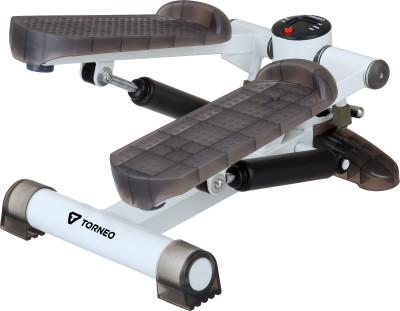 Torneo Ritmo S-112WКомпактный домашний кардиотренажер имитатор ходьбы по лестницам. Наилучший вариант для тщательной проработки мышц бедра, икроножных и ягодичных мышц.<br>Тип степпера: Классический; Система нагружения: Гидравлическая; Питание тренажера: Батарейки; Максимальный вес пользователя: 100 кг; Время тренировки: Есть; Ритм, шаг/мин: Есть; Количество шагов за тренировку: Есть; Количество шагов за предыдущие тренировки: Есть; Израсходованные калории: Есть; Педали: Взаимозависимый ход; Размеры (дл х шир х выс), см: 44 х 30 х 30; Вес, кг: 6,6; Вид спорта: Кардиотренировки; Технологии: EverProof, Ready-to-Fit; Производитель: Torneo; Артикул производителя: S-112W; Срок гарантии: 2 года; Страна производства: Китай; Размер RU: Без размера;