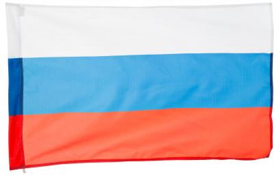 Флаг России МегафлагПоддержите свою любимую команду с флагом в руках это станет запоминающимся моментом вашей жизни! Размер полотна 70 х 105 см.<br>Производитель: Мегафлаг; Вид спорта: Футбол; Артикул производителя: MFFN510; Страна производства: Россия; Размер RU: Без размера;