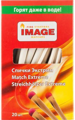 Спички Image ЭкстримСпички экстрим незаменимы для розжига костра, мангала, растопок, открытого огня на пикнике. 20 спичек в коробке.<br>Пол: Мужской; Возраст: Взрослые; Вид спорта: Кемпинг, Походы; Состав: 68 % дерево, 32 % зажигательный состав; Производитель: Image; Артикул производителя: 4607113340113; Страна производства: Россия; Размер RU: Без размера;