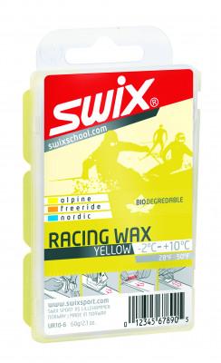 Мазь скольжения Swix Bio RacingМазь swix bio racing предназначена для нанесения на скользящую поверхность лыж и сноубордов температурный режим температурный диапазон от -2 c до 10 с.<br>Состав: Углеводородный парафин; Объем: 0,08; Вид спорта: Горные лыжи; Производитель: Swix Sport AS; Артикул производителя: UR10-6; Страна производства: Норвегия; Размер RU: Без размера;