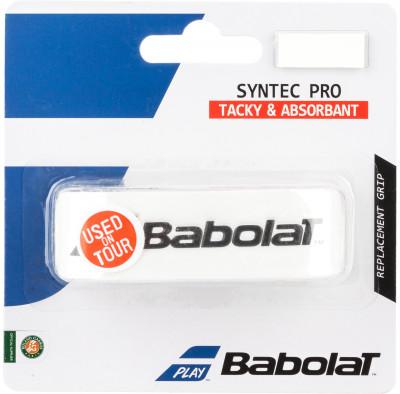 Намотка базовая Babolat Syntec ProБазовая намотка, которую используют чемпионы. Babolat syntec pro стала на 10 % тоньше, что обеспечивает улучшенное чувство мяча.<br>Длина: 100 см; Материалы: 100 % полиуретан; Вид спорта: Теннис; Производитель: Babolat; Артикул производителя: 670051-101; Срок гарантии: 6 месяцев; Страна производства: Китай; Размер RU: Без размера;