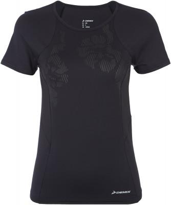 Футболка женская Demix, размер 44Футболки<br>Удобная футболка для тренинга от demix. Отведение влаги ткань с технологией movi-tex обеспечивает отведение влаги и комфортный микроклимат.