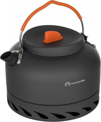 Чайник Outventure 1,4 лПосуда<br>Чайник из анодированного алюминия объемом 1, 4 л. Встроенный радиатор позволяет оптимизировать потребление газа при использовании горелки.