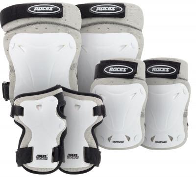 Набор защиты RocesНабор вентилируемой защиты для взрослых подойдет как для катания на роликах, так и для гонок на скейтборде.<br>Возраст: Взрослые; Пол: Мужской; Материалы: Внешний слой - 100 % полиэстер, подкладка - полиэстер, полиэтилен; велкро-липучки и крючки - 60 % нейлон, 40 % полиэстер; эластичный ремень - 80 % нейлон, 20 % резина; эластичная часть - 80 % нейлон, 20 % резина; заклепка - железо; Вентиляция: Есть; Вид спорта: Роликовые коньки; Производитель: Roces; Артикул производителя: 301332; Срок гарантии: 6 месяцев; Страна производства: Китай; Размер RU: S;