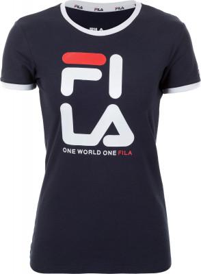 Футболка женская Fila, размер 52Футболки<br>Классика от fila - эффектная футболка в спортивном стиле, декорированная графикой в духе бренда.