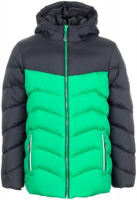 Куртка пуховая для мальчиков OutventureКуртка для мальчиков от outventure станет отличным выбором для походов. Сохранение тепла в модели используется технологичный утеплитель add warm.<br>Пол: Мужской; Возраст: Дети; Вид спорта: Походы; Вес утеплителя на м2: 160 г/м2; Наличие мембраны: Нет; Наличие чехла: Нет; Возможность упаковки в карман: Нет; Регулируемые манжеты: Нет; Защита от ветра: Да; Покрой: Свободный; Светоотражающие элементы: Нет; Дополнительная вентиляция: Нет; Проклеенные швы: Нет; Длина куртки: Средняя; Наличие карманов: Да; Капюшон: Не отстегивается; Количество карманов: 2; Артикулируемые локти: Нет; Застежка: Кнопки; Технологии: ADD DRY Water Resistant, ADD WARM; Производитель: Outventure; Артикул производителя: UJAB047215; Страна производства: Китай; Материал верха: 100 % нейлон; Материал подкладки: 100 % полиэстер; Материал утеплителя: 60 % утиный пух серый, 40 % утиное перо серое; капюшон: 100 % полиэстер; Размер RU: 158;