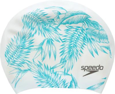 Шапочка для плавания SpeedoПринтованная силиконовая шапочка большого объема от speedo - отличный выбор для обладательниц длинных волос.<br>Пол: Мужской; Возраст: Взрослые; Вид спорта: Плавание; Назначение: Для длинных волос; Производитель: Speedo; Артикул производителя: 8-11306B968; Страна производства: Китай; Материалы: 100 % силикон; Размер RU: Без размера;