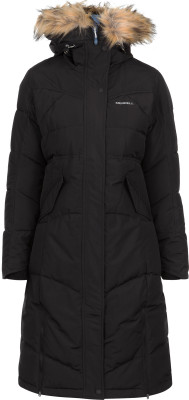Куртка пуховая женская MerrellТеплая и длинная куртка с капюшоном merrell - удачный выбор для походов.<br>Пол: Женский; Возраст: Взрослые; Вид спорта: Походы; Вес утеплителя на м2: 458 г/м2; Наличие чехла: Нет; Возможность упаковки в карман: Нет; Регулируемые манжеты: Нет; Водонепроницаемость: 10 000 мм; Паропроницаемость: 10 000 г/м2/24 ч; Температурный режим: До -20; Покрой: Приталенный; Светоотражающие элементы: Да; Дополнительная вентиляция: Нет; Проклеенные швы: Нет; Длина куртки: Длинная; Наличие карманов: Да; Капюшон: Не отстегивается; Количество карманов: 3; Застежка: Молния; Технологии: M Select XDRY; Производитель: Merrell; Артикул производителя: RJAW069948; Страна производства: Китай; Материал верха: 100 % полиэстер; Материал подкладки: 100 % полиэстер; Материал утеплителя: 70 % утиный пух серый, 30 % утиное перо серое; рукав/ капюшон: 100 % полиэстер, искусственный мех: 100 % акрил; Размер RU: 48;