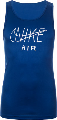 Майка мужская Nike, размер 52-54Мужская одежда<br>Майка с графикой nike air станет отличным выбором для пробежек. Отведение влаги технология dri-fit эффективно отводит влагу от кожи.