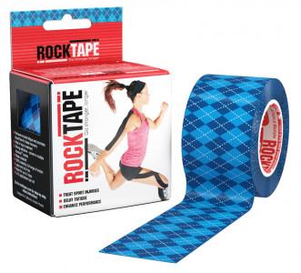 Кинезио-тейп RockTape 5 см х 5 м, синий узор