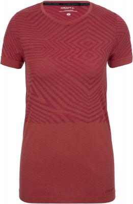 женская футболка craft, оранжевая