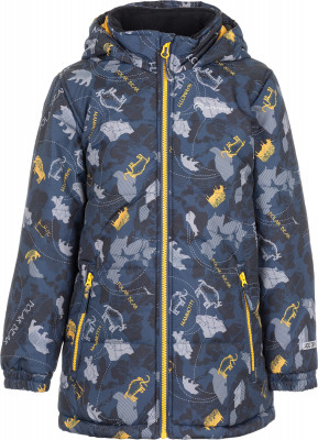 Куртка утепленная для мальчиков OutventureПрактичная куртка для мальчиков от outventure пригодится в путешествиях. Сохранение тепла синтетический утеплитель весом 200 г м2 согреет в холодные дни.<br>Пол: Мужской; Возраст: Малыши; Вид спорта: Путешествие; Вес утеплителя на м2: 200 г/м2; Наличие мембраны: Да; Наличие чехла: Нет; Возможность упаковки в карман: Нет; Регулируемые манжеты: Нет; Водонепроницаемость: 3000 мм; Паропроницаемость: 3000 г/м2/24 ч; Защита от ветра: Да; Покрой: Прямой; Светоотражающие элементы: Да; Дополнительная вентиляция: Нет; Проклеенные швы: Нет; Длина куртки: Средняя; Наличие карманов: Да; Капюшон: Не отстегивается; Количество карманов: 2; Артикулируемые локти: Нет; Застежка: Молния; Технологии: ADD DRY; Производитель: Outventure; Артикул производителя: UJAB10M511; Страна производства: Китай; Материал верха: 100 % полиэстер; Материал подкладки: 100 % полиэстер; Материал утеплителя: 100 % полиэстер; Размер RU: 116;