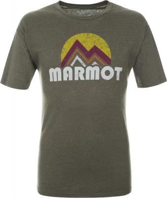 Футболка мужская Marmot, размер 50-52Футболки<br>Легкая футболка pt reyes tee ss выполнена из экологичных материалов.