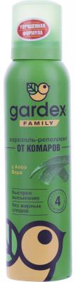 Аэрозоль-репеллент от комаров Gardex Family, 150 млАэрозоль-репеллент от комаров защищает до 4 часов. Подойдет для всей семьи, быстро высыхает и не оставляет жирных следов.<br>Объем: 150 мл; Вид спорта: Кемпинг, Походы; Производитель: Gardex; Артикул производителя: P0155; Страна производства: Россия; Размер RU: Без размера;