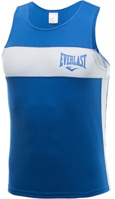 Майка боксерская Everlast EliteБоксерская форма включает в себя шорты и майку, в которых спортсмен тренируется. Одежда, как правило, окрашена в синий и красный цвет углов ринга.<br>Пол: Мужской; Возраст: Взрослые; Вид спорта: Бокс; Состав: 100 % полиэстер; Технологии: EverDri; Производитель: Everlast; Артикул производителя: 3651 M BL/WH; Страна производства: Россия; Размер RU: 46;