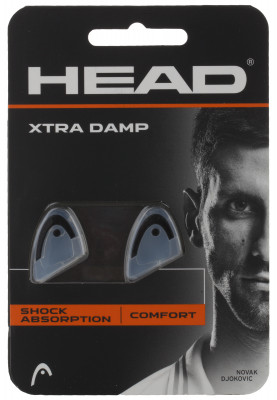 Виброгаситель Head Xtra DampВиброгасители<br>Виброгаситель из мягкого амортизирующего материала эффективно поглощает вибрации, снижая тем самым нагрузку на локтевой сустав. Модель выполнена в форме логотипа head.