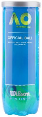 Набор мячей для большого тенниса Wilson AUSTRALIAN OPEN 3 BALL CANМячи<br>Теннисный мяч от wilson, который является официальным мячом первого турнира большого шлема - открытого первенства австралии 2006 года.