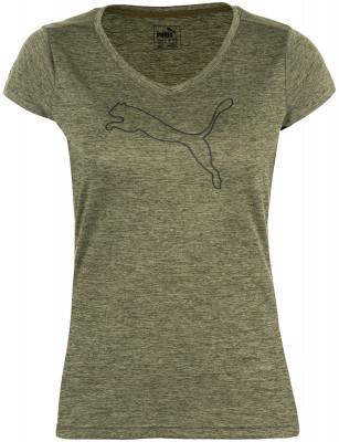 Футболка женская Puma HeatherТехнологичная женская футболка от puma - превосходный выбор для занятий бегом. Отведение влаги материал drycell эффективно отводит излишнюю влагу от тела.<br>Пол: Женский; Возраст: Взрослые; Вид спорта: Бег; Защита от УФ: Нет; Покрой: Приталенный; Плоские швы: Нет; Светоотражающие элементы: Да; Дополнительная вентиляция: Нет; Технологии: DryCELL; Производитель: Puma; Артикул производителя: 514121-22; Страна производства: Камбоджа; Материалы: 100 % полиэстер; Размер RU: 48-50;