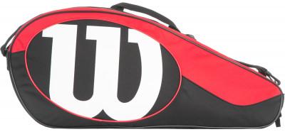 Сумка Wilson Match II 6 PackСумка с богатым функционалом для серьезных игроков в теннис, предпочитающих серию match. Два удобных отделения для комфортного хранение своего теннисного инвентаря.<br>Размеры (дл х шир х выс), см: 74 x 17,75 x 31,75; Количество карманов: 3; Вид спорта: Теннис; Артикул производителя: WRZ820606; Производитель: Wilson; Страна производства: Китай; Срок гарантии: 1 год; Материал верха: 100 % полиамид; Размер RU: Без размера;