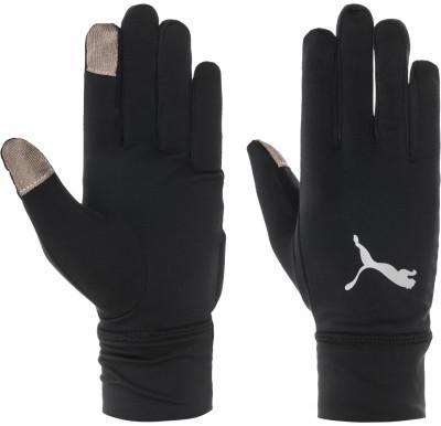 Перчатки PumaБеговые перчатки с длинными мягкими манжетами. Отверстие в манжете левой перчатки для быстрого доступа к часам.<br>Пол: Мужской; Возраст: Взрослые; Вид спорта: Бег; Работа с сенсорным экраном: Есть; Материал верха: 87 % полиэстер, 13 % спандекс; Производитель: Puma; Артикул производителя: 041294; Страна производства: Китай; Размер RU: 9;