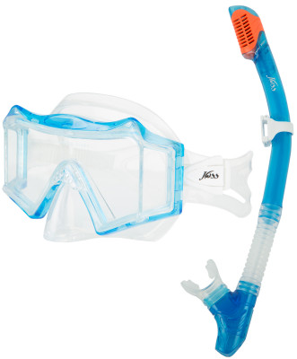 Комплект для плавания JossНаборы<br>Набор для сноркелинга, состоящий из маски и трубки. Трехлинзовая маска надежно фиксируется и обеспечивает хороший обзор.