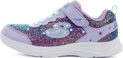 Кроссовки для девочек Skechers S Lights: Glimmer Kicks - Glitter N' Glow, размер 30