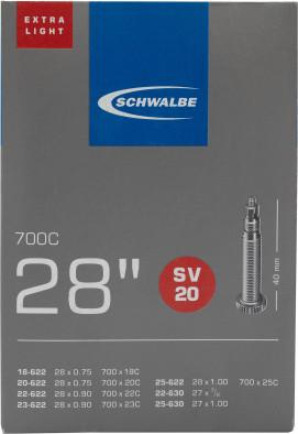 Камера Schwalbe SV20 EXTRA LIGHT 40mm 28