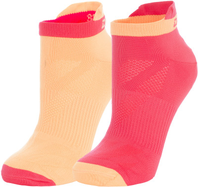 Носки женские Demix, 2 парыПрекрасные спортивные носки из микрофибры отлично впитывают влагу и быстро сохнут. Идеально подойдут для занятий фитнесом или для повседневной носки. В комплекте 2 пары.<br>Пол: Женский; Возраст: Взрослые; Вид спорта: Бег; Производитель: Demix; Артикул производителя: JWCZ01KEM; Страна производства: Пакистан; Материалы: 95% нейлон, 5% эластан; Размер RU: 39-42;