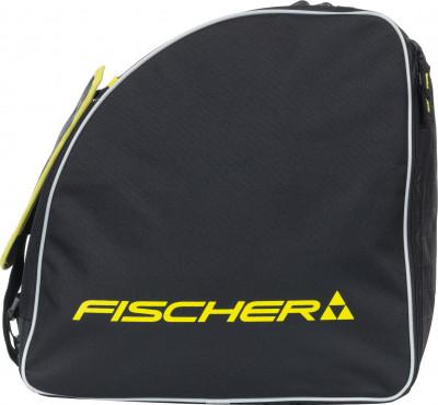 Сумка для ботинок Fischer Alpine EcoСумка fischer alpine eco для горнолыжных ботинок. Боковой карман и плечевые ремни служат для удобства использования.<br>Состав: Полиэстер; Вид спорта: Горные лыжи, Сноубординг; Производитель: Fischer; Артикул производителя: Z03217; Срок гарантии: 1 год; Страна производства: Китай; Размер RU: Без размера; Цвет: Черный;