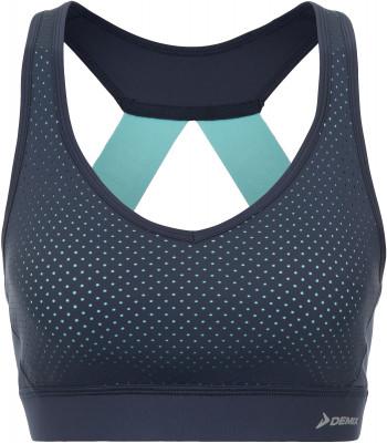 Бра Demix, размер 50Женская одежда<br>Отличный выбор для занятий бегом - бра от demix. Комфорт плоские швы предотвращают натирание и гарантируют комфорт.