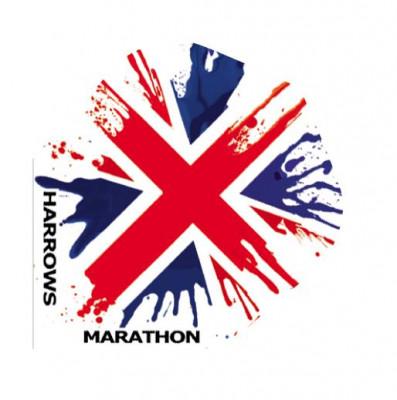 Оперения Harrows MarathonАксессуары<br>Оперения классической формы из нового термоламинированного материала. Поверхность оперений ребристая.