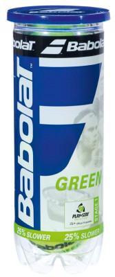 Набор теннисных мячей Babolat Green X3Мяч для начинающих, также рекомендован itf в программе play &amp; stay. Средний уровень игры. Скорость отскока мяча на 25% медленнее, чем у стандартного.<br>Тип мяча: Детские; Отскок: -25% (зеленый); Вид спорта: Большой теннис; Производитель: Babolat; Артикул производителя: 501034-113; Срок гарантии: 2 года; Страна производства: Таиланд; Размер RU: Без размера;